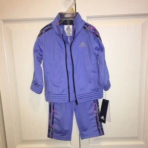Adidas purple Kids Tracksuit- brand new with tags!